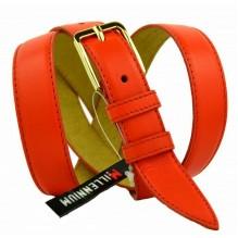 """Женский кожаный ремень для платья узкий 25мм """"Ачинск"""", оранжевый (арт. 103762)"""