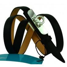 """Женский кожаный ремень для платья узкий 15мм """"Астрахань"""", черный (арт. 103761)"""