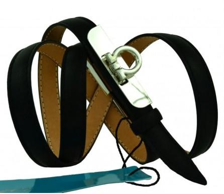 """Женский кожаный ремень для платья узкий 15мм """"Архангельск"""", черный (арт. 103760) Mayer"""