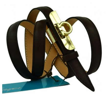 """Женский кожаный ремень для платья узкий 15мм """"Армавир"""", черный (арт. 103758) Mayer"""