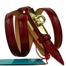 """Женский кожаный ремень для платья узкий 15мм """"Ангарск"""", коричневый (арт. 103756)"""