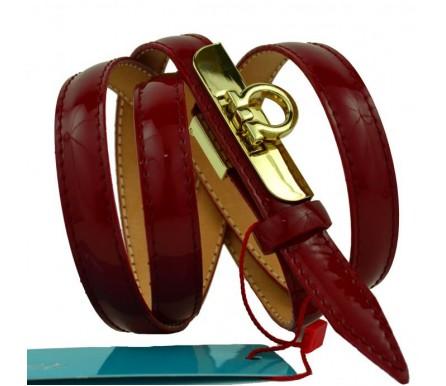 """Женский кожаный ремень для платья узкий 15мм """"Ангарск"""", коричневый (арт. 103756) Mayer"""