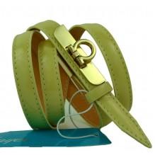 """Женский кожаный ремень для платья узкий 15мм """"Альметьевск"""", коричневый (арт. 103755)"""