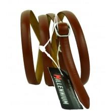 """Женский кожаный ремень для платья узкий 10мм """"Миннеаполис"""", коричневый (арт. 103748)"""