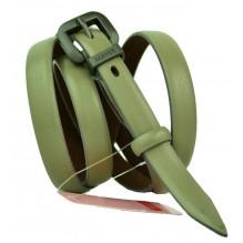 """Женский кожаный ремень для платья узкий 15мм """"Оклахома-Сити"""", кремовый (арт. 103729)"""