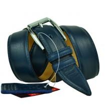 """Мужской классический кожаный ремень для брюк """"Прага"""", темно-синий (арт. 102981)"""