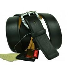 """Широкий мужской кожаный ремень для джинс большого размера """"Милан"""", черный (арт. 102980)"""