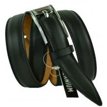 """Женский кожаный ремень для платья узкий 20мм """"Вашингтон"""", черный (арт. 103725)"""