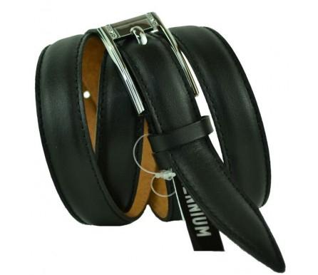 """Женский кожаный ремень для платья узкий 20мм """"Вашингтон"""", черный (арт. 103725) Millennium"""