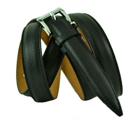 """Женский кожаный ремень для платья узкий 20мм """"Джэксонвилл"""", черный (арт. 103715) Millennium"""