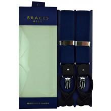 """Мужские премиум подтяжки для костюма в подарочной упаковке """"Коломна"""", цвет темно-синий (арт. 102848)"""