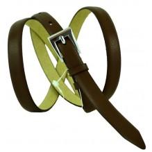 """Женский кожаный ремень для платья узкий 15мм """"Стамбул"""", темно-коричневый (арт. 103604)"""