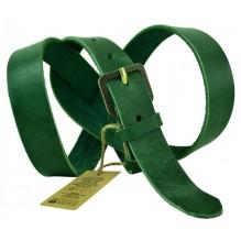 """Женский кожаный ремень для платья узкий 25мм """"Тверь"""", зеленый (арт. 103579)"""