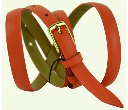 """Женский кожаный ремень для платья узкий 15мм """"Салават"""", красный (арт. 103558) Elpaso"""