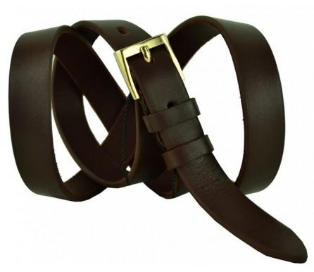 """Женский кожаный ремень для платья узкий 20мм """"Реутов"""", темно-коричневый (арт. 103553) Elpaso"""