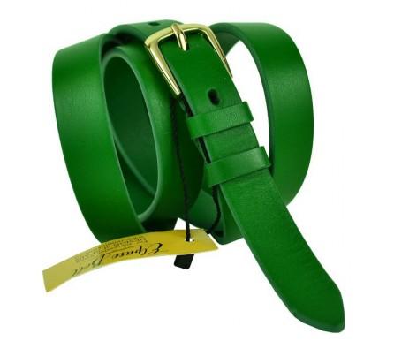"""Женский кожаный ремень для платья узкий 20мм """"Пенза"""", зеленый (арт. 103542) Elpaso"""