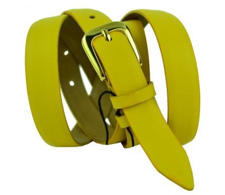 """Женский кожаный ремень для платья узкий 20мм """"Мытищи"""", желтый (арт. 103510) Elpaso"""