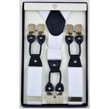 """Мужские премиум подтяжки для костюма в подарочной упаковке """"Березники"""", цвет белый (арт. 102806)"""