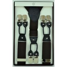 """Мужские премиум подтяжки для костюма в подарочной упаковке """"Бердск"""", цвет темно-коричневый (арт. 102805)"""