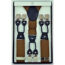"""Мужские премиум подтяжки для костюма в подарочной упаковке """"Астрахань"""", цвет коричневый (арт. 102798)"""