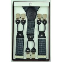 """Мужские премиум подтяжки для костюма в подарочной упаковке """"Артём"""", цвет серый (арт. 102796)"""