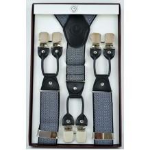 """Мужские премиум подтяжки для костюма в подарочной упаковке """"Ангарск"""", цвет серый (арт. 102793)"""