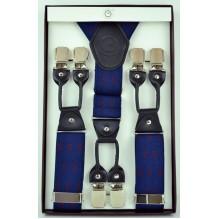 """Мужские премиум подтяжки для костюма в подарочной упаковке """"Альметьевск"""", цвет синий (арт. 102792)"""