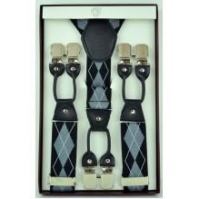 """Мужские премиум подтяжки для костюма в подарочной упаковке """"Уичито"""", цвет разноцветный (арт. 102788)"""
