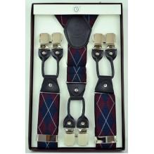 """Мужские премиум подтяжки для костюма в подарочной упаковке """"Кливленд"""", цвет разноцветный (арт. 102787)"""