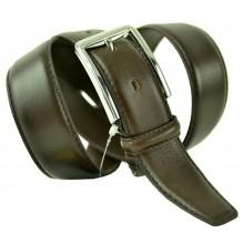 """Мужской классический кожаный ремень для брюк """"Омаха"""", темно-коричневый (арт. 102781)"""