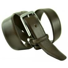 """Мужской классический кожаный ремень для брюк """"Канзас-Сити"""", темно-коричневый (арт. 102776)"""