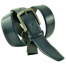 """Мужской классический кожаный ремень для брюк """"Лонг-Бич"""", темно-синий (арт. 102775)"""