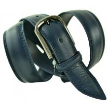 """Мужской классический кожаный ремень для брюк """"Сакраменто"""", темно-синий (арт. 102774)"""