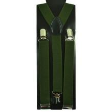 """Мужские узкие подтяжки """"Сиэтл"""", цвет темно-зеленый (арт. 102760)"""