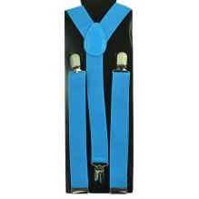 """Мужские узкие подтяжки """"Эль-Пасо"""", цвет голубой (арт. 102758)"""
