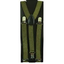 """Мужские узкие подтяжки """"Джэксонвилл"""", цвет темно-зеленый (арт. 102752)"""