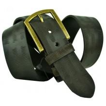 """Широкий мужской кожаный ремень для джинс 45мм """"Сан-Антонио"""", темно-оливковый (арт. 102746)"""