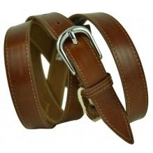 """Женский кожаный ремень для платья узкий 20мм """"Колорадо-Спрингс"""", темно-коричневый (арт. 103422)"""