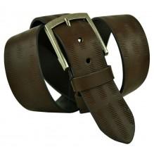 """Широкий мужской кожаный ремень для джинс 45мм """"Дрезден"""", темно-коричневый (арт. 102730)"""