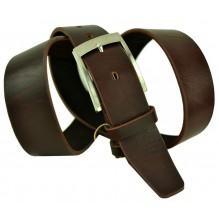 """Мужской классический кожаный ремень для брюк """"Глазго"""", темно-коричневый (арт. 102713)"""