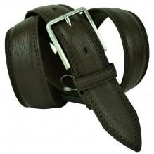 """Мужской классический кожаный ремень для брюк """"Севилья"""", темно-коричневый (арт. 102697)"""