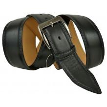 """Широкий мужской кожаный ремень для джинс большого размера """"Париж"""", черный (арт. 102649)"""
