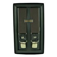 """Мужские премиум подтяжки для костюма в подарочной упаковке """"Ярославль"""", цвет темно-коричневый (арт. 102640)"""
