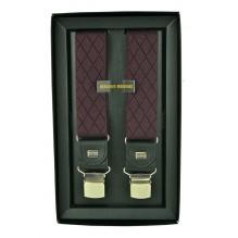 """Мужские премиум подтяжки для костюма в подарочной упаковке """"Черкесск"""", цвет черный (арт. 102631)"""