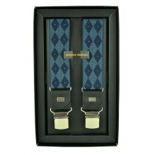 """Мужские премиум подтяжки для костюма в подарочной упаковке """"Хабаровск"""", цвет синий (арт. 102625)"""