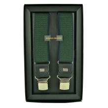 """Мужские премиум подтяжки для костюма в подарочной упаковке """"Уссурийск"""", цвет зеленый (арт. 102623)"""