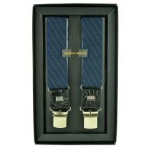 """Мужские премиум подтяжки для костюма в подарочной упаковке """"Тюмень"""", цвет синий (арт. 102620)"""
