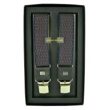 """Мужские премиум подтяжки для костюма в подарочной упаковке """"Старый Оскол"""", цвет бордовый (арт. 102609)"""