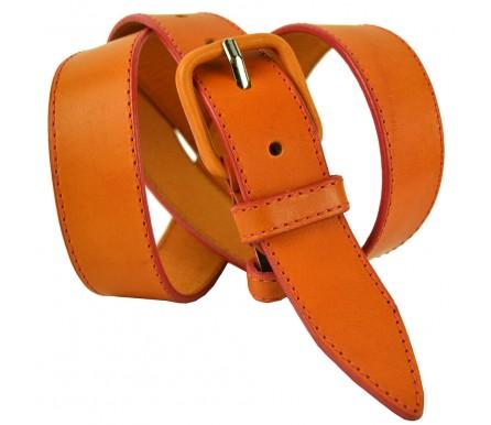 """Женский джинсовый кожаный ремень """"Сан-Хосе"""",  оранжевый (арт. 103391) Millennium"""
