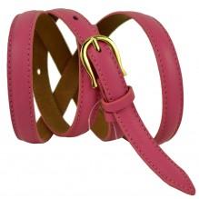 """Женский кожаный ремень для платья узкий 15мм """"Сан-Антонио"""", розовый (арт. 103388)"""